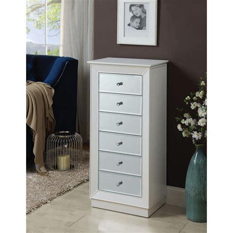 White Jewelry Armoire acme furniture talor white jewelry armoire 97171 the
