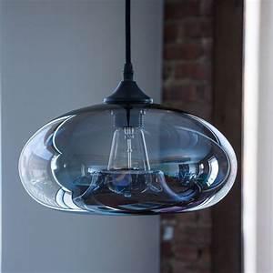 Vintage clear glass ball pendant lamp light kitchen