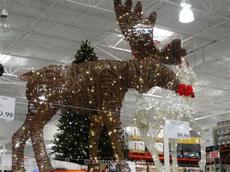 moose 60 inch lighted outdoor display philips 60 inch grapevine moose costco decorations yard decorations