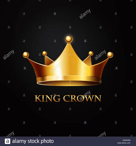 King Background Gold King Crown On Black Background Stock Photo 81984048