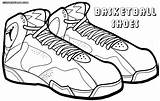 Coloring Shoes Basketball Pages sketch template