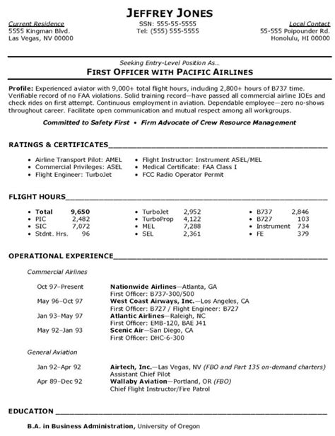 Pilot Resume Template by Aviation Security Audit Checklist Template Templates