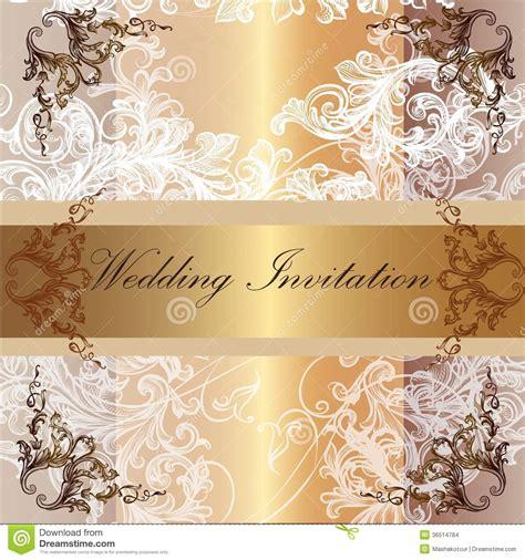 wedding invitation card  pastel  golden colors stock