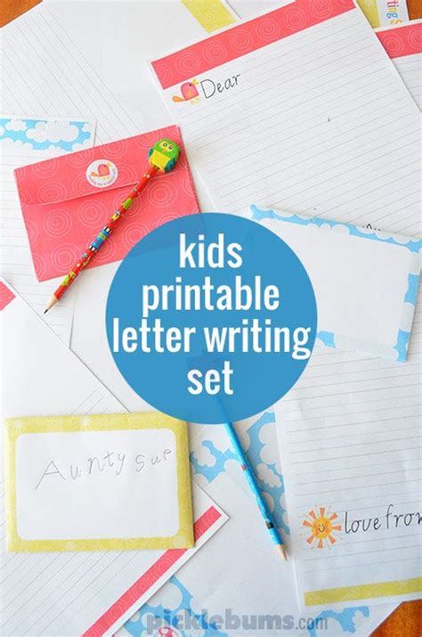 free printable letter writing set encourage your to write picklebums the