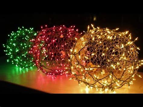 holiday light balls youtube