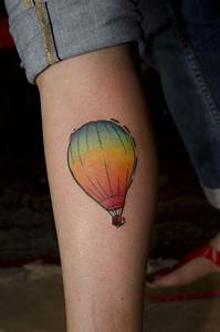 hot air balloon tattoo | 35 Poetic Hot Air Balloon Tattoos ...