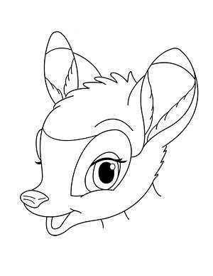 jak narysowac jelonka bambi krok po kroku