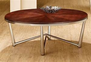 701798 3pc coffee table set by coaster w brushed nickel base With polished nickel coffee table