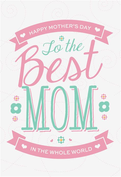 pink floral mothers day card   island