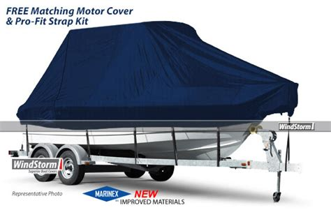 Boat Covers Maine by Windstorm Boat Cover For Bay Boat Rounded Bow Center