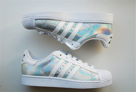 Adidas Shoes White And Hologram On The Hunt