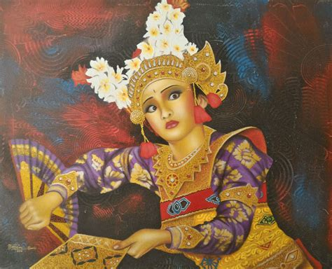 balinese dance painting shopping  bali