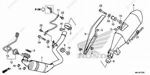 Honda Motorcycle 2019 Oem Parts Diagram For Muffler