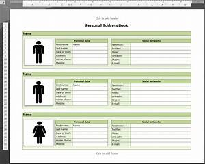 Image gallery excel 2009 book for Microsoft excel address book template