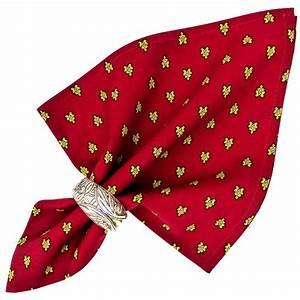 Serviette De Table En Tissu : serviette de table tissu proven al rouge motif abeilles ~ Teatrodelosmanantiales.com Idées de Décoration