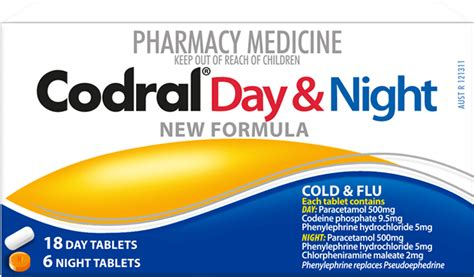 Codral® Day & Night Tablets  Cold & Flu Tablets  Codral