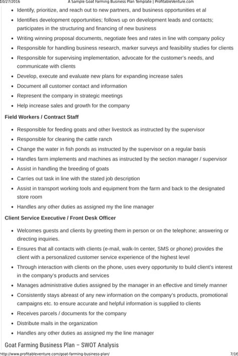 Goats are used for their meat and the consumption market forms a major share of the customer base for goat farming businesses. Download Goat Farming Business Plan Template Free Download for Free | Page 7 - FormTemplate