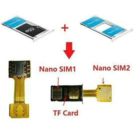 buy hybrid double dual sim card adapter