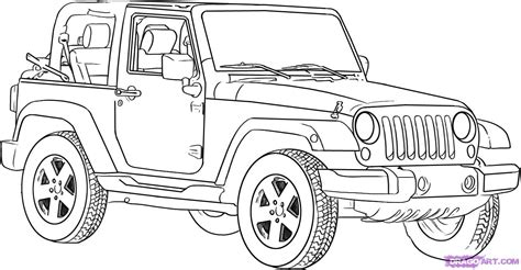 jeep philippines drawing how to draw a jeep wrangler step by step suvs
