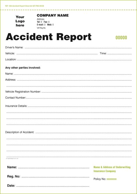 truck driver accident report form template templates for accident report book and vehicle condition