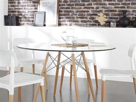 table de cuisine ronde en verre table ronde de salle à manger en verre prix table ronde