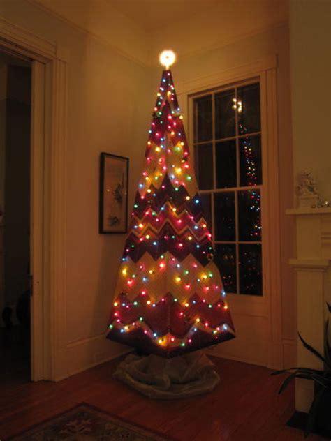 upcycled knit throw diy christmas tree