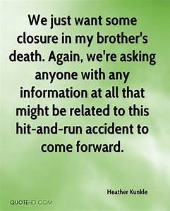 Heather Kunkle ... Closure Death Quotes