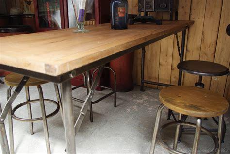 table cuisine en pin table haute par le marchand d 39 oublis