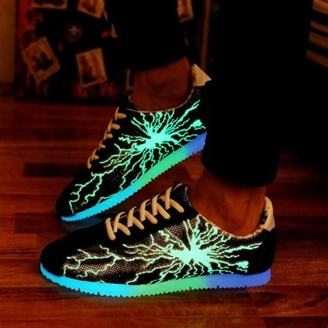 free light up shoes glow in the dark casual shoes men shoes luminous shoes