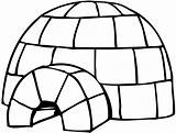 Craft Igloo Coloring Penguin Printable Drawing sketch template