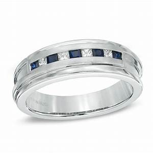 vera wang love collection men39s square cut blue sapphire With vera wang men s wedding rings