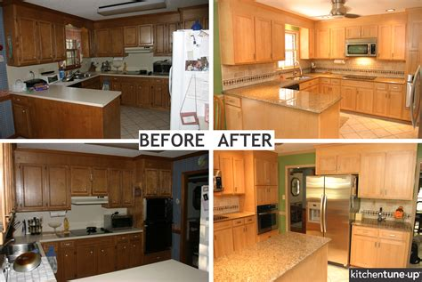 kitchen cabinet refacing before and after refacing kitchen cabinet pictures before after kitchen 9136