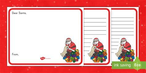 letter  santa writing template santa writing