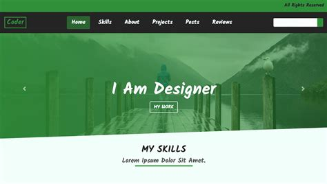 build  portfolio website  html cssbootstrap