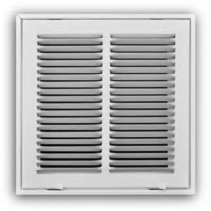 truaire 18 in x 18 in white return air filter grille