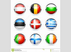 European Country Flag Buttons Royalty Free Stock
