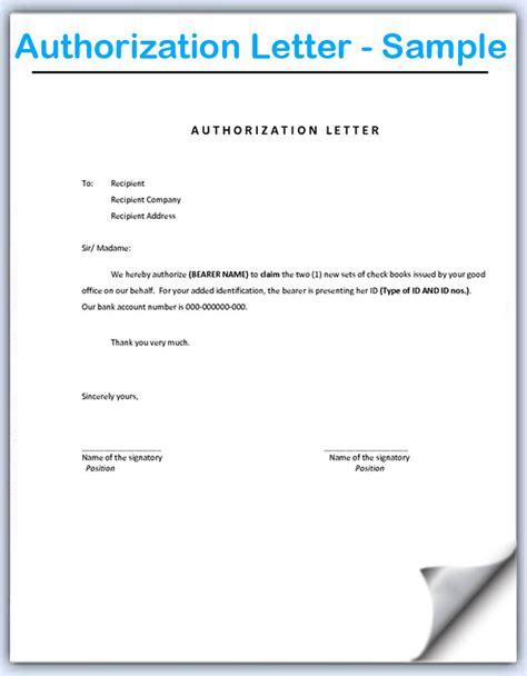 letter of authorization 2 authorization letter sle format document blogs 34121