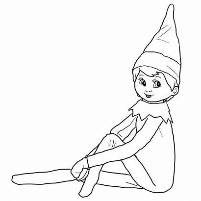 Elf Shelf Coloring Pages Drawing Printable Elfs