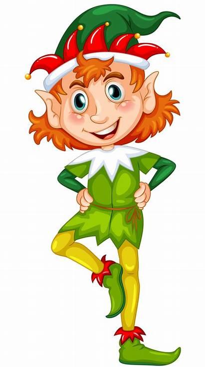 Elf Christmas Clipart Craft Elves Cartoon Transparent