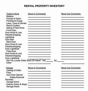 sample property inventory template 9 free documents With inventory for rental property template