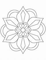 Coloring Pages Pattern Mandala Rangoli Diwali Patterns Flower Easy Simple Colouring Sheets Azcoloring sketch template