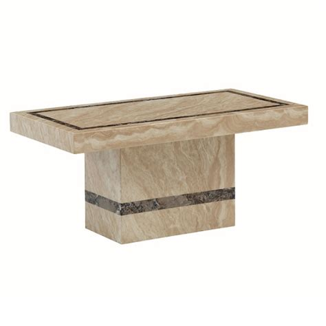 Aviator Marble Coffee Table In Cream And Cappuccino 27083