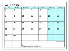 Calendarios abril 2019 LD