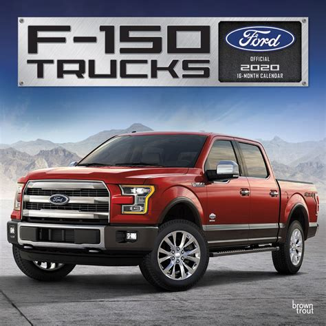 ford trucks monthly square wall calendar