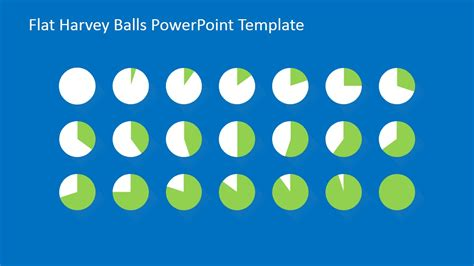 flat harvey ball powerpoint template slidemodel
