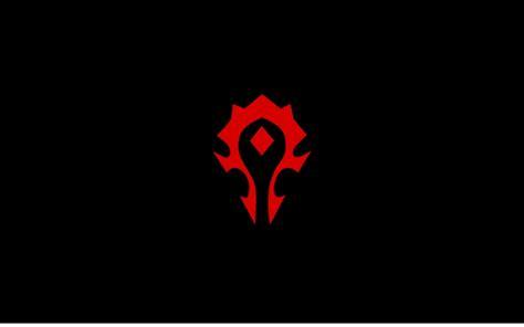 world  warcraft symbol crest horde logos