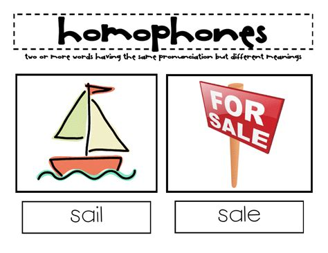 Fun With Words Homophones Blogsensebybarb