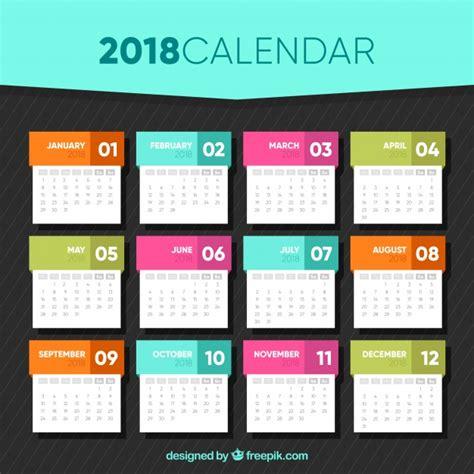 calendar template flat design vector