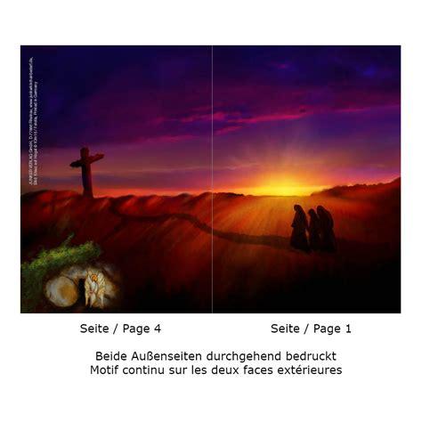 christliche osterkarte klappkarte  innen bibeltext mk