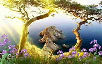 Animated Landscape Nature Scenery Mayo Nunca Dejes